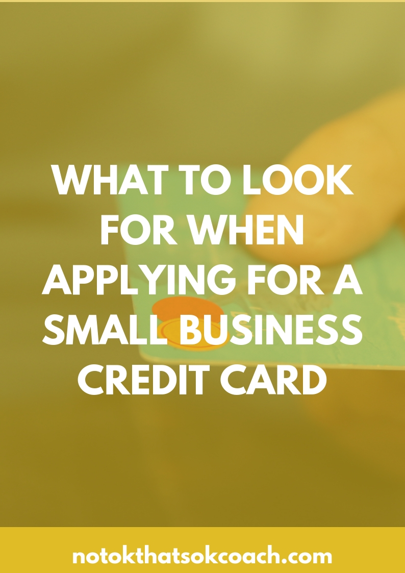 What to Look for When Applying for a Small Business Credit Card